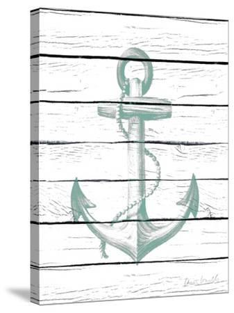 Anchor on Wood-Lanie Loreth-Stretched Canvas Print