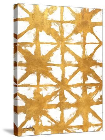 Shibori Gold IV-Elizabeth Medley-Stretched Canvas Print