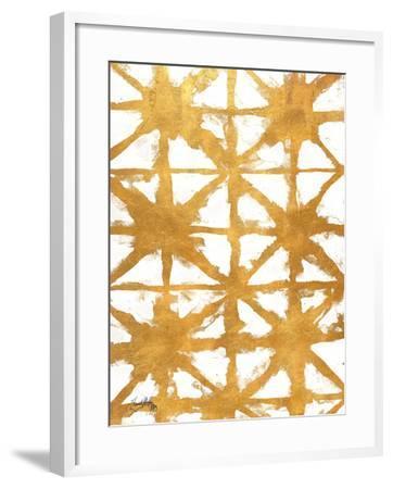 Shibori Gold IV-Elizabeth Medley-Framed Art Print