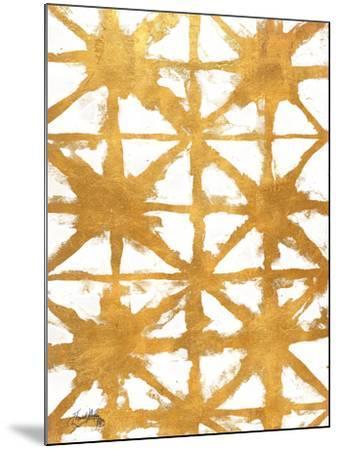 Shibori Gold IV-Elizabeth Medley-Mounted Art Print