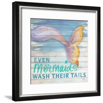 Mermaid Bath II-Elizabeth Medley-Framed Art Print