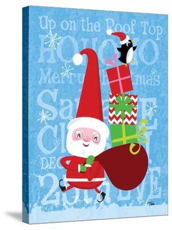 Santa & Bag of Presents-Teresa Woo-Stretched Canvas Print
