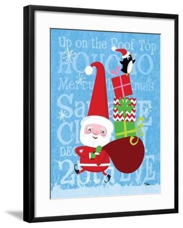 Santa & Bag of Presents-Teresa Woo-Framed Art Print