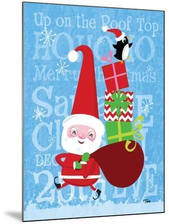 Santa & Bag of Presents-Teresa Woo-Mounted Art Print