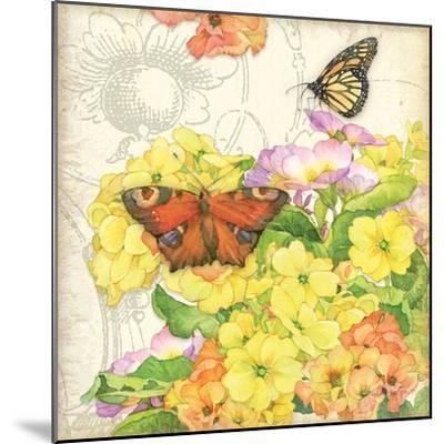 Primrose & Butterflies-Julie Paton-Mounted Art Print