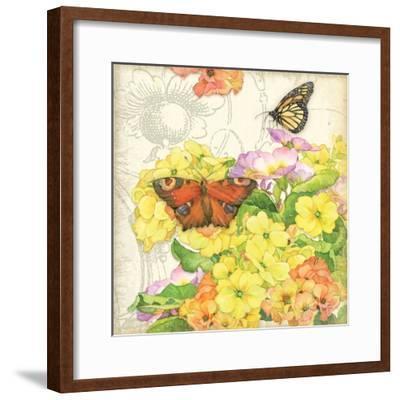 Primrose & Butterflies-Julie Paton-Framed Art Print