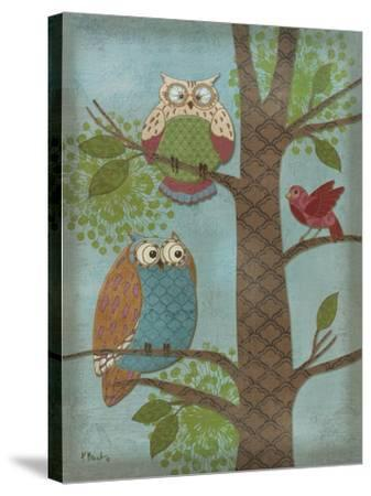 Fantasy Owls Vertical II-Paul Brent-Stretched Canvas Print