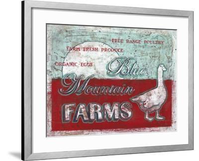 Blue Mountain Farms-Catherine Jones-Framed Art Print
