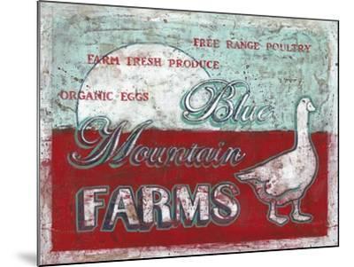 Blue Mountain Farms-Catherine Jones-Mounted Art Print