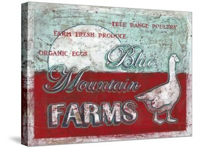 Blue Mountain Farms-Catherine Jones-Stretched Canvas Print