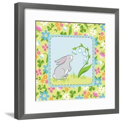 Meadow Bunny I-Betz White-Framed Art Print