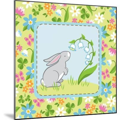 Meadow Bunny I-Betz White-Mounted Art Print