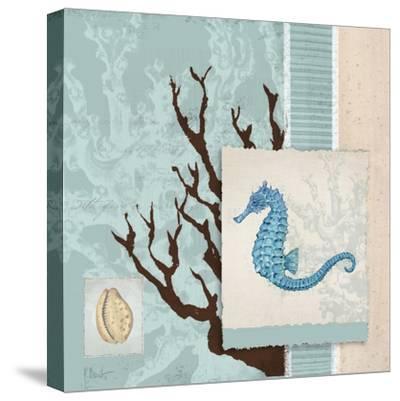 Aquarius Blue Sq II-Paul Brent-Stretched Canvas Print