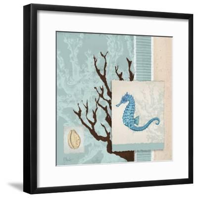Aquarius Blue Sq II-Paul Brent-Framed Art Print
