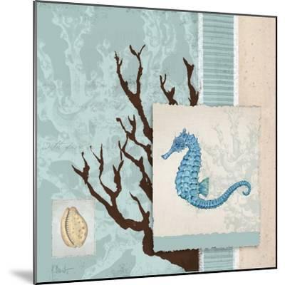 Aquarius Blue Sq II-Paul Brent-Mounted Art Print