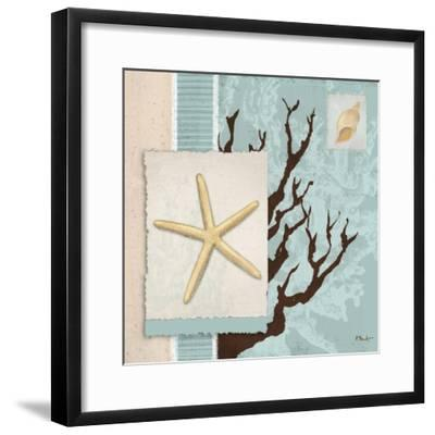 Aquarius Blue Sq III-Paul Brent-Framed Art Print
