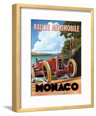 Monaco Rallye-Catherine Jones-Framed Premium Giclee Print