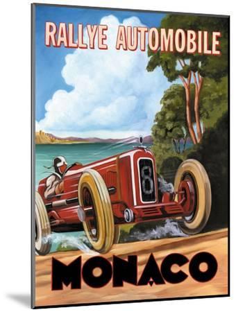 Monaco Rallye-Catherine Jones-Mounted Premium Giclee Print