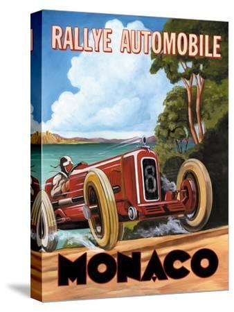 Monaco Rallye-Catherine Jones-Stretched Canvas Print