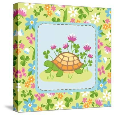 Meadow Turtle II-Betz White-Stretched Canvas Print