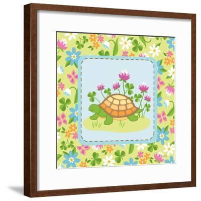 Meadow Turtle II-Betz White-Framed Art Print