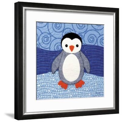 Penguin-Betz White-Framed Art Print