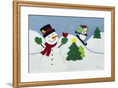 Holiday Snowman-Betz White-Framed Art Print