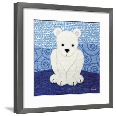 Polar Bear-Betz White-Framed Art Print