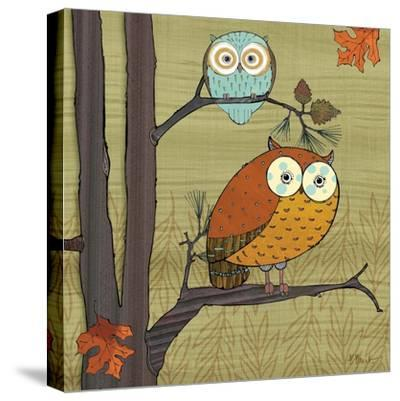Awesome Owls I-Paul Brent-Stretched Canvas Print