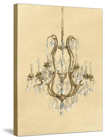 Elegant Chandelier II- Laurencon-Stretched Canvas Print