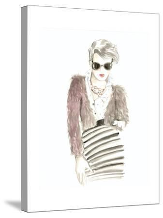Runway Fashion I- Laurencon-Stretched Canvas Print