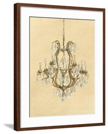 Elegant Chandelier II- Laurencon-Framed Art Print