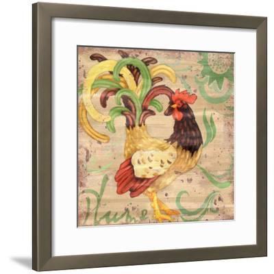 Royale Rooster III-Paul Brent-Framed Art Print