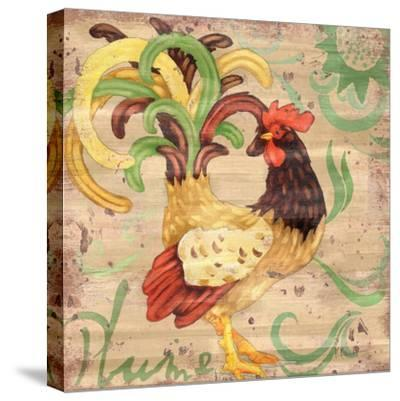 Royale Rooster III-Paul Brent-Stretched Canvas Print