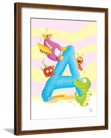 Angel A- Blue Fish-Framed Art Print