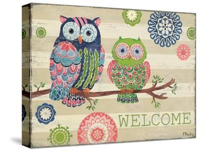Groovy Owls I-Paul Brent-Stretched Canvas Print