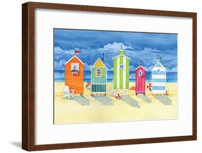 Brighton Huts-Paul Brent-Framed Premium Giclee Print