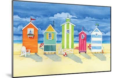 Brighton Huts-Paul Brent-Mounted Premium Giclee Print