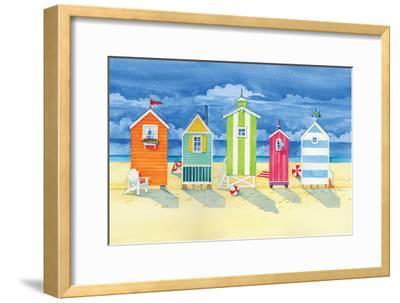 Brighton Huts-Paul Brent-Framed Art Print