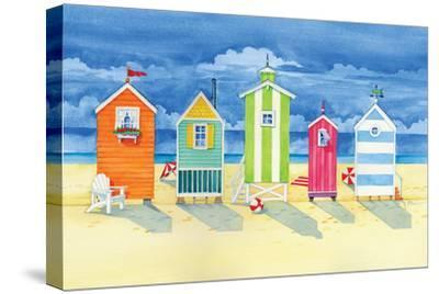 Brighton Huts-Paul Brent-Stretched Canvas Print