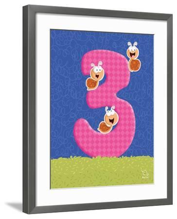Snaily 3- Blue Fish-Framed Art Print
