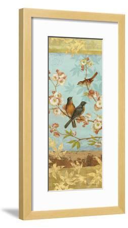 Robins & Blooms Panel-Pamela Gladding-Framed Art Print