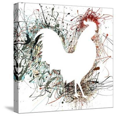 Party Rooster I-Gregory Gorham-Stretched Canvas Print