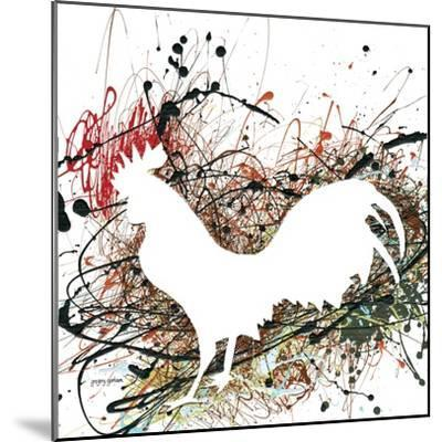 Party Rooster II-Gregory Gorham-Mounted Art Print