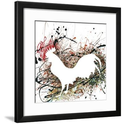 Party Rooster II-Gregory Gorham-Framed Art Print