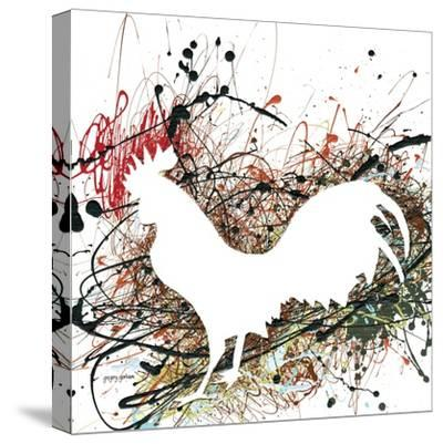 Party Rooster II-Gregory Gorham-Stretched Canvas Print
