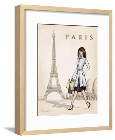 Paris-Andrea Laliberte-Framed Art Print