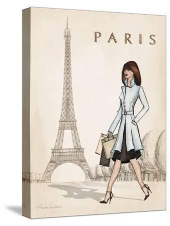 Paris-Andrea Laliberte-Stretched Canvas Print