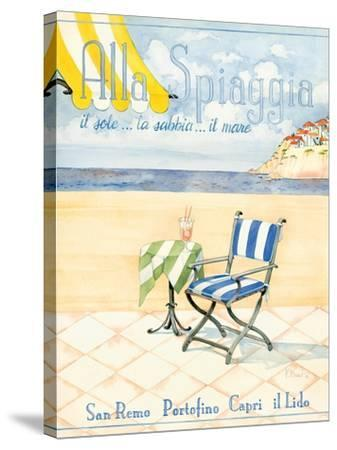 Alla Spiaggia-Paul Brent-Stretched Canvas Print