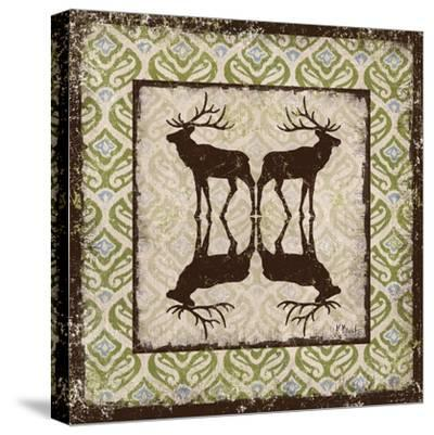 Modern Lodge Azure I-Paul Brent-Stretched Canvas Print